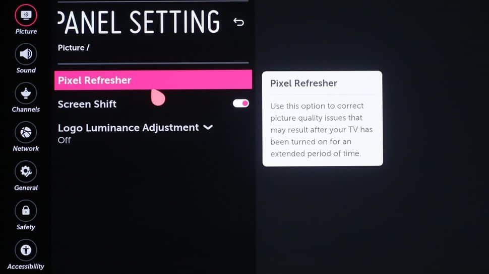 lg pixel refresher