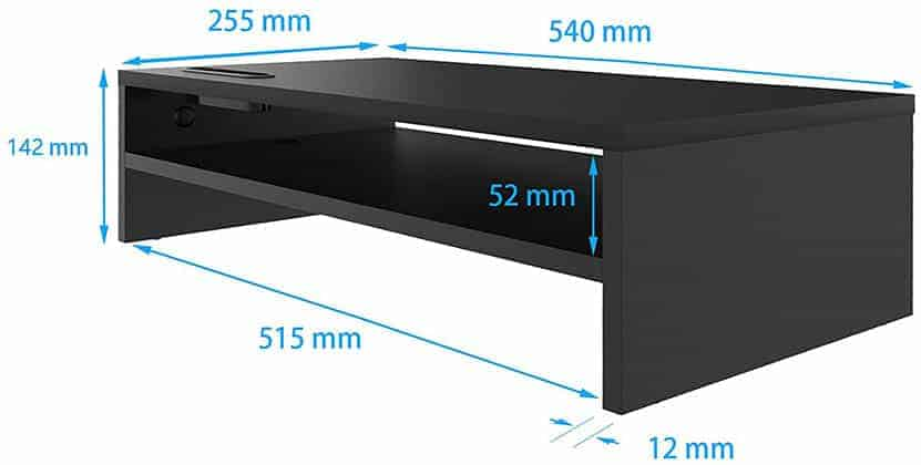 1homefurnit Monitor Stand Dimensions
