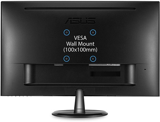 asus vp249qgr monitor back