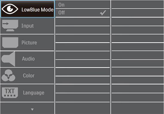 philips 246e9qdsb monitor osd menu layout