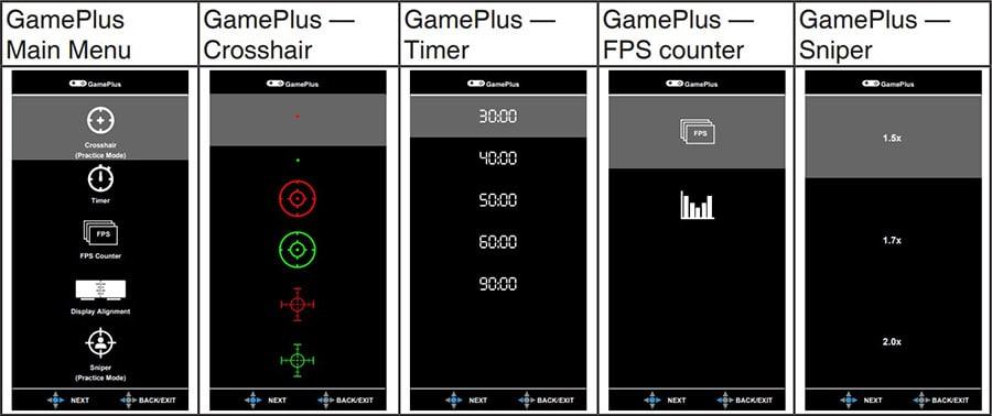 asus vg259qm monitor gameplus features