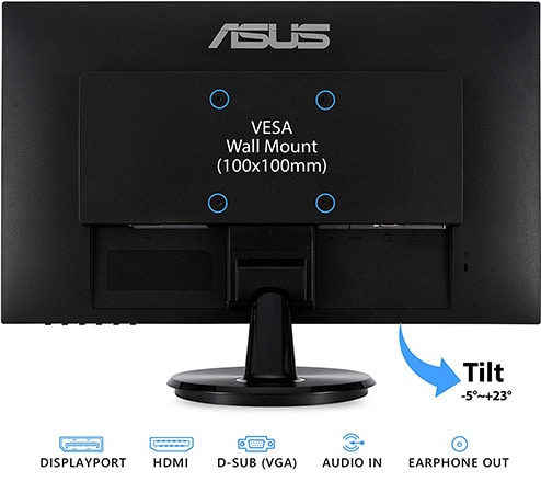 asus va24dq monitor back