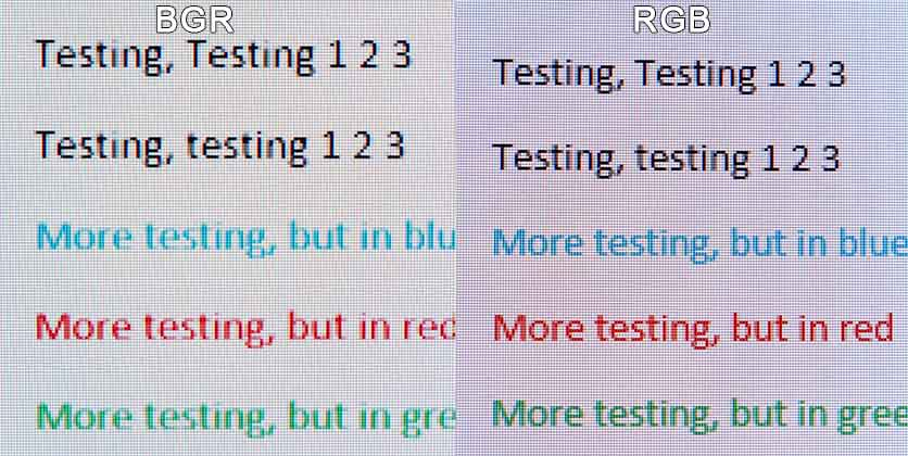 bgr vs rgb subpixel