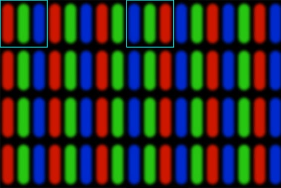 rgb vs bgr sub pixel layout