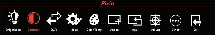 Pixio PXC243 OSD Menu